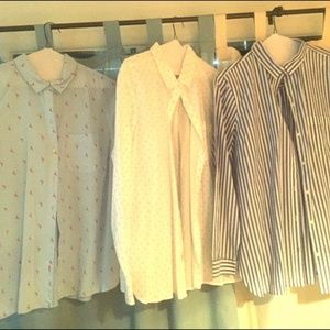 Long sleeve button down tops